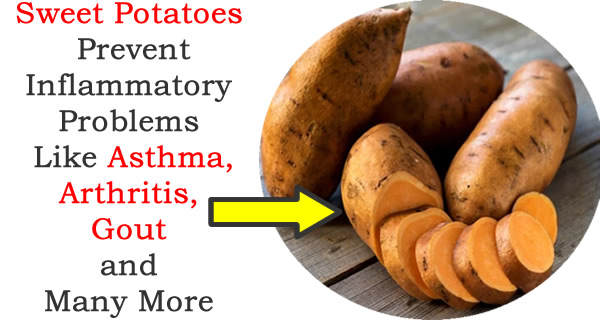 Sweet Potatoes Prevent Inflammatory Problems Like Asthma, Arthritis, Gout and Many More